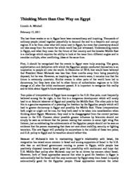 thumnail for Thinking_More_than_One_Way_on_Egypt.pdf