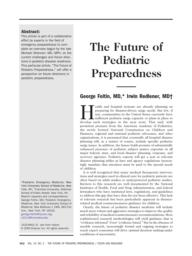thumnail for Foltin_-_Future_of_Pediatric_Preparedness.pdf