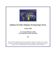 thumnail for IPD_WP_Tax_System_Reform_in_India.pdf