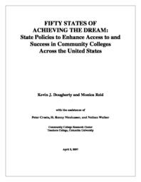 thumnail for Dougherty___Reid_-_50_States_of_Achieving_the_Dream_2007.pdf