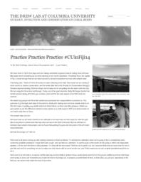 thumnail for Practice_Practice_Practice__CUinFiji14___The_Drew_Lab_at_Columbia_University.pdf