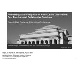thumnail for SWDE_Conference_2015_-_Session_223_-_Ortega_Marquart_Andruczyk_-_Addressing_acts_of_oppression_within_online_classrooms_-_Best_practices_and_collaborative_solutions.pdf