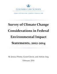thumnail for Survey_of_Climate_Change_Considerations_in_Federal_Environmental_Impact_Statements_2012-2014.pdf
