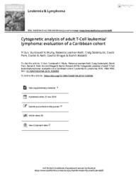 thumnail for Sun Y et al adult T Cell leukemia lymphoma 2019 evaluation of a Caribbean cohort.pdf
