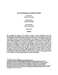 thumnail for Currie_Duque_and_Garfinkel_2014_-_The_Great_Recession_and_Mother_s_Health.pdf