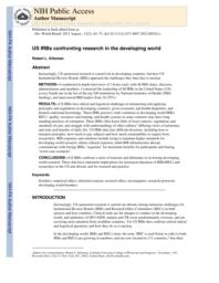 thumnail for Klitzman_US IRBs Confronting Research in the Developing World.pdf
