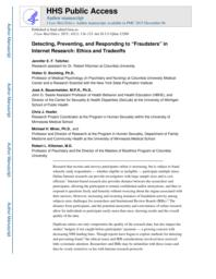 """thumnail for Klitzman_Detecting, Preventing, and Responding to """"Fraudsters"""" in Internet Research.pdf"""