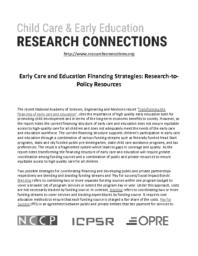 thumnail for Early Care and Education Financing Strategies.pdf