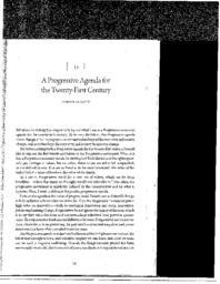 thumnail for A Progressive agenda for the Twenty-First Century.pdf