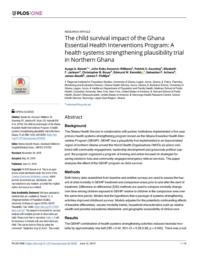 thumnail for #16 Bawah Child Survival impact of GEHIP.pdf
