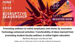 thumnail for NSWM 2018_Marquart and Nair_Promoting wellness to online employees and clients via innovative technology-enhanced activities.pdf