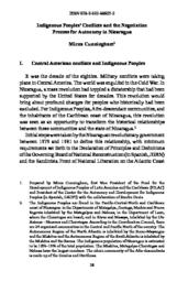thumnail for 03 Indigenous Peoples' Conflicts and the Negotiation Process for Autonomy in Nicaragua.pdf