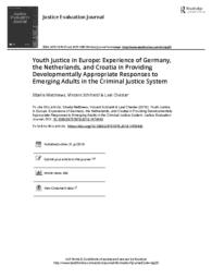 thumnail for Youth Justice in Europe Experience of Germany the Netherlands and Croatia in Providing Developmentally Appropriate Responses to Emerging Adults in.pdf