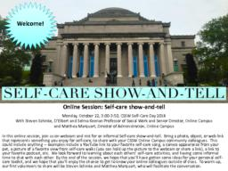 thumnail for Self-Care Day 2018_Self-Care Show-and-Tell_Schinke and Marquart.pdf