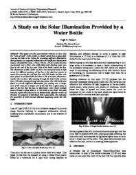 thumnail for Tejit Pabari tvp2107 Research - A study on the Solar Illumination provided by a water bottle.pdf