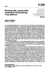 thumnail for Working with a Great Public Intellectual Atkinson.pdf