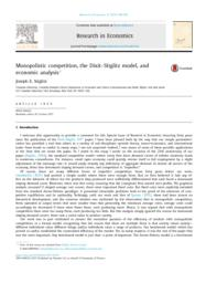 thumnail for Monopolistic Competition, the Dixit-Stiglitz Model....pdf