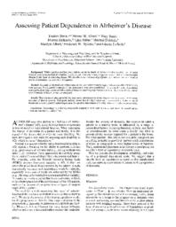 thumnail for Assessing Patient Dependence in Alzheimer.pdf
