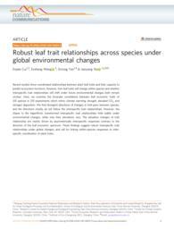 thumnail for Cui et al. - 2020 - Robust leaf trait relationships across species und.pdf