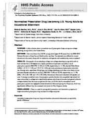 thumnail for Martins_Nonmedical prescription drug use among US young adults by educational attainment..pdf