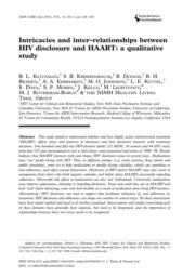thumnail for Klitzman_Intricacies and inter-relationships between HIV disclosure and HAART.pdf