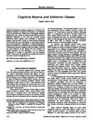 thumnail for Cognitive Reserve and AD.pdf