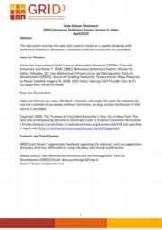 thumnail for Data Release Statement GRID3 BWA Settlement Extents V1 Alpha.pdf