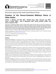 thumnail for Mielenz et al. Creation of the Person-Centered Wellness Home - Innovation in Aging 2020.pdf