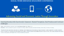 thumnail for SWDE 2018_Counselman-Carpenter_Marquart_Garay_Teaching diversity in the synchronistic classroom.pdf