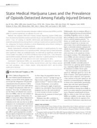 thumnail for Kim_State Medical Marijuana Laws and the Prevalence of Opioids Detected Among Fatally Injured Drivers..pdf
