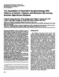 thumnail for Fidalgo_et_al-The association of psychiatric symptomatology with patterns of alcohol, tobacco, and marijuana use among Brazilian high school students..pdf