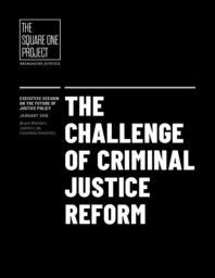thumnail for The Challenge of Criminal Justice Reform_Bruce Western_Final.pdf