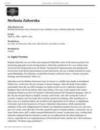 thumnail for Stefania Zahorska – Women Film Pioneers Project.pdf