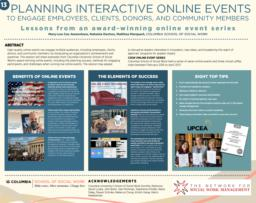 thumnail for Cox Awanohara_Dachos_Marquart_Planning interactive online events_Poster for NSWM 2018.pdf