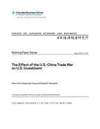thumnail for WP.374.The Effect of the U.S.-China Trade War on U.S. Investment.pdf