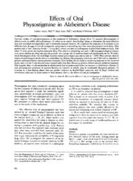 thumnail for Effects of oral physostigmine in Alzheimers Di.pdf