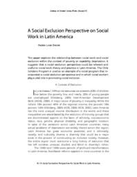 thumnail for A Social Exclusion Perspective on Social Work in Latin America .pdf