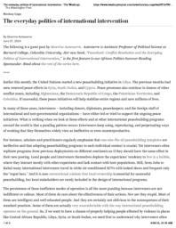 thumnail for The everyday politics of international intervention - The Washington Post.pdf