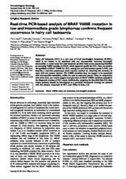 thumnail for Ewalt_et_al-BRAF in HCL-Hematol_Oncol 2012.pdf