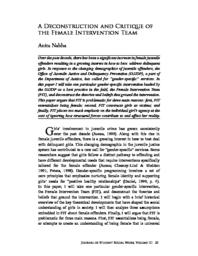 thumnail for A Deconstruction and Critique of the Female Intervention Team.pdf