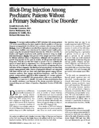 thumnail for Illicit-drug injection among psychiatric patients without a primary substance use disorder.pdf