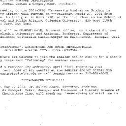 Announcements, 2002-04-25. ...