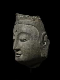 Head of a Bodhisattva, Left 3/4