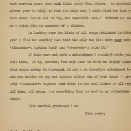 Letter from Richard Simon t...