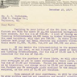 Boyd's City Dispatch. Letter
