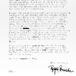 Letter from Ralph J. Bunche...