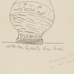 Chinese drawing (vase)