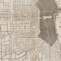 Map of the city of Chicago