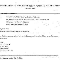 Announcements, 2002-05-06. ...
