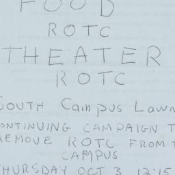 Live Music ROTC circular